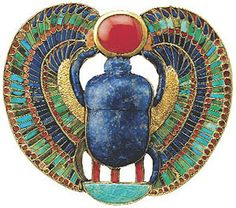 """Jewelry to Dazzle your eye?: King Tutankhamun's Inlaid Pectoral is just one of the items found in the boy king's tomb that is on display in a new traveling exhibit titled """"Tutankhamun . Shield Drawing, Egypt Jewelry, Jewelry Art, The Boy King, Ancient Egyptian Jewelry, Ancient Artifacts, Ancient History, Ancient Aliens, Gods And Goddesses"""