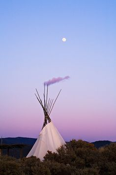 Moonrise over TeePee || Taos, New Mexico.