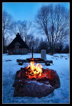 Winter Night By the Lake, Koylio, Finland Copyright: Eino Kuvaja