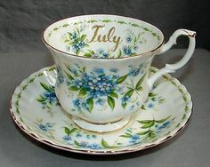 Royal albert china teacup & saucer ~ july flower of month series ...