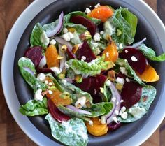 Tried this tonight with balsalmic dressing and cutie oranges and it was soooo good! Spinach & Beet Salad with Goddess Dressing Green Goddess Salad Dressing, Goddess Dressing Recipe, Comme Un Chef, Le Chef, Bbq Salads, Easy Salads, Beet Salad, Spinach Salad, Salad Recipes