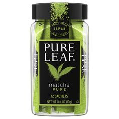 Pure Leaf® Matcha uses the finest Tencha green leaves from shade-grown Japanese tea plants. The leaves are then ground into a fine powder to make a culinary grade matcha. Matcha Tea Benefits, Best Matcha Tea, How To Make Matcha, Smoothie Blender, Matcha Green Tea Powder, Pure Leaf Tea, Brewing Tea, Sachets, Perfume Bottles