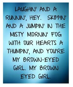 brown eyed girl lyrics - Google Search