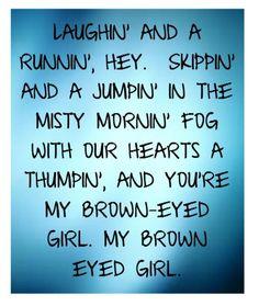 brown eyed girl lyrics - Google Search