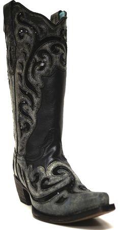 Black Womens Cowboy Boots