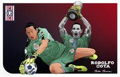 Rodolfo Cota... #artwork #ilustracion #futbol #chivas #futbolilustracion #vectorart #digitalillustration Chivas Soccer, Illustration, Photo And Video, Artwork, Movies, Movie Posters, Instagram, Football Art, Guadalajara