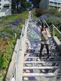 16th Avenue, Tiled Steps, San Francisco, California.  Go to www.YourTravelVideos.com or just click on photo for home videos and much more on sites like this.