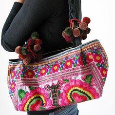 bag ethnic colors pompom by eruizgm