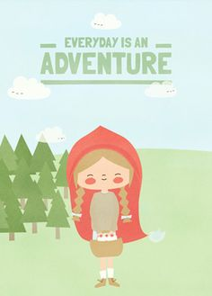 Little Red Riding Hood poster by Apanona