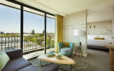 Epiphany Hotel, Palo Alto.  JDV Hotels.  Photography by Michael Kleinberg.  Styling by Lauren Adel.
