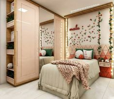 Diy room decir for women bedroom interior design ideas Stylish Bedroom, Cozy Bedroom, Dream Bedroom, Bedroom Decor, Bedroom Romantic, Bedroom Ideas, Woman Bedroom, Girls Bedroom, Bedrooms