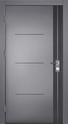 """Pieno® Haustüren Modell """"Chicago-Pullman"""" in grau. Pieno® front door model """"Chicago-Pullman"""" in gray. Door specialist Schmidinger from Gramastetten in Upper Austria now a Bedroom Door Design, Door Design Interior, Interior Barn Doors, Exterior Doors, Bedroom Doors, Wooden Door Design, Main Door Design, Gate Design, Wooden Doors"""