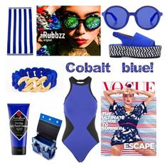 Cobalt blue with The Rubbzz Original fashion accessories. www.rubbzz.com by therubbzzoriginal on Polyvore featuring polyvore, fashion, style, Seafolly, Kenzo, Etnia Barcelona and clothing