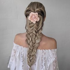 Pretty combo braid by @n.starck