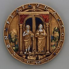 Triptyich Depicting Veronica's Veil  --  Late 15th Century  --  Italy, Milan  --  Partly-enameled Gold  --  The Metropolitan Museum of Art