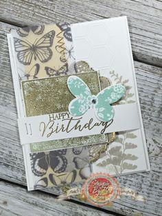 Blog Candy Winner, Butterfly Basics Stamp set, Patina Technique - StampinByTheSea.com