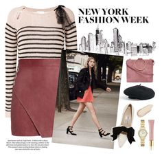 """New York Fashion Week"" by aliceinbloom ❤ liked on Polyvore featuring Venus, RED Valentino, Michelle Mason, Manolo Blahnik, H&M, Thacker, Charlotte Russe, Kate Spade and AERIN"