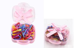 YABINA 100pcs/Box Rubber Rope Ponytail Holder Elastic Hair Bands Ties Braids Plaits Hair Accessory (Multicolor-2) -- Check out this great product.