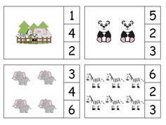 Zoo Animals Count & Clip #s 1-20 by The Teaching Zoo