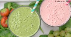 Pink & green ontbijt shakes   Freud and Fries