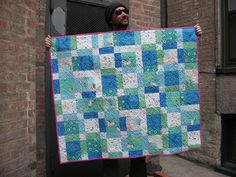 Restless Grace: Wee Wander Disappearing Nine Patch - A Baby Quilt