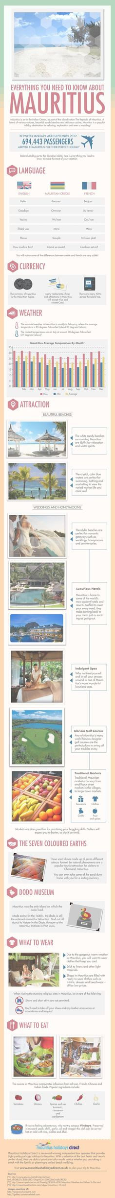 Everything You Need To Know About Mauritius #Infographic #Mauritius #Travel