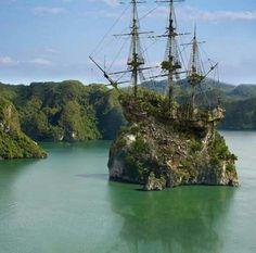 Barco isla