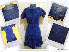 Vestido de Crochet - revista Manequim