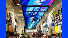 27 Digital Signage Screens Are Suspended Across the Length of Oakley's NY Flagship Retail Space. Read more on ScreenMedia Daily Id Digital, Digital Retail, Digital Signage Displays, Digital Signage Solutions, Retail Technology, Retail Store Design, Retail Stores, Retail Experience, Digital Marketing Strategy