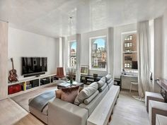 top new Apartment lobbies | Living room in small apartment in New York by Rick Joy