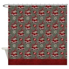 Christmas Holiday Bells Shower Curtain D23