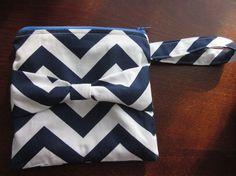 Chevron zipper clutch by keriBdesigns on Etsy, $12.00