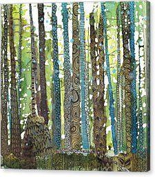 Morning Walk Canvas Print by Sandrine Pelissier