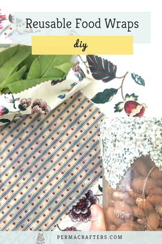 This item should make it to your kitchen zero waste essentials. Ditch disposable plastic wraps & switch to DIY reusable beeswax wraps. A simple step towards zero waste living! Reusable Food Wrap, Make Your Own, Make It Yourself, Beeswax Food Wrap, Plastic Waste, Plastic Wrap, Wraps, Crafts For Kids, Diy Crafts