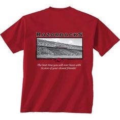 New World Graphics Men's University of Arkansas Friends Stadium T-shirt (Red Medium, Size Small) - NCAA Licensed Product, NCAA Men's Tops at Academ...