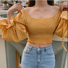ig: kkmmmkk uploaded by graciella on We Heart It Crop Top Outfits, Girly Outfits, Cute Casual Outfits, Simple Outfits, Chic Outfits, Dress Outfits, Fashion Outfits, Dresses, Korean Girl Fashion