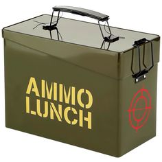 This lunch box never misses its target, keeping sandwiches, snacks and other foods from getting smashed en route to school or anyplace else your daily missions take you. Lunch Box Thermos, Lunch Boxes, Novelty Gifts For Men, Boxer Rebellion, Gifts For Him, Metal, Fun, Ammo Boxes, Design