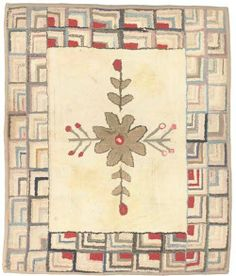 AN AMERICAN HOOKED RUG...~♥~