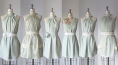 ♥ Love these mismatched bridesmaid dresses - made to order by Atelier Signature
