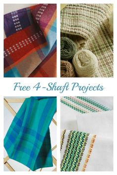 Free 4-shaft weaving patterns! Weave a variety of towels and master huck lace, overshot, twill, and more.
