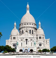 Sacre-Coeur Basilica, Paris - stock photo