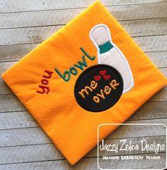 You Bowl me over appliqué Design: Jazzy Zebra Designs