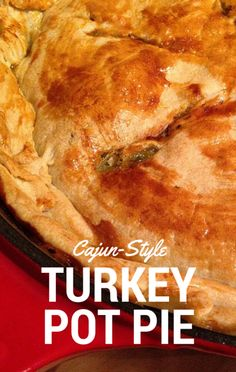 On The Chew, Mario Batali had to put secret ingredients together to make one dish, and he came up with a delicious Cajun-Style Turkey Pot Pie.
