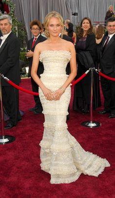Diane Kruger in Elie Saab - 2006, oscars, The Best Oscar Dresses Ever, red carpet