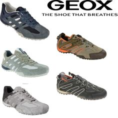 Geox U Snake Comfortable Breathable Walking Trainers - ALL COLORS #Geox #RunningShoes