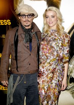Johnny Depp & Amber Heard made their 'official couple' debut over the weekend