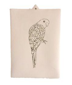 PINK parakeet! little artwork #dutchdesign #studiodewinkel