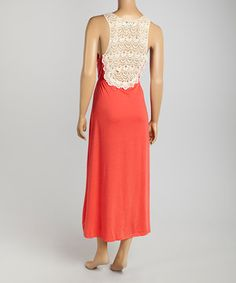 Look at this #zulilyfind! Life and Style Fashions Fuchsia & White Lace-Back Sleeveless Dress by Life and Style Fashions #zulilyfinds