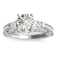 Transcendent Brilliance 14k Gold 7/8ct TDW White Diamond Antique Style Engagement Ring (F-G, VS1-VS2) (White - Size 6), Women's, Rose