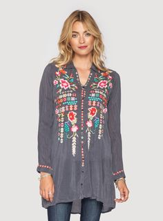 Johnny Was: Eyva Blouse- these clothes are gorgeous, but I can't see myself downing that much money on any one piece of clothing.